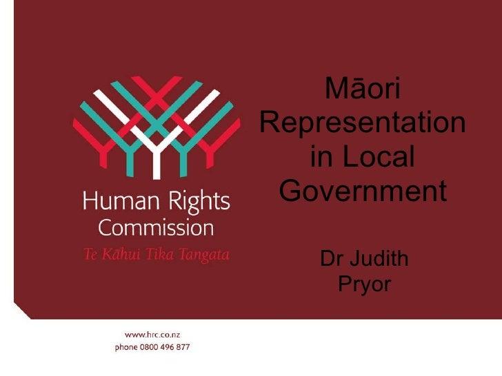 Maori representation in local govt survey results 19 august 2010