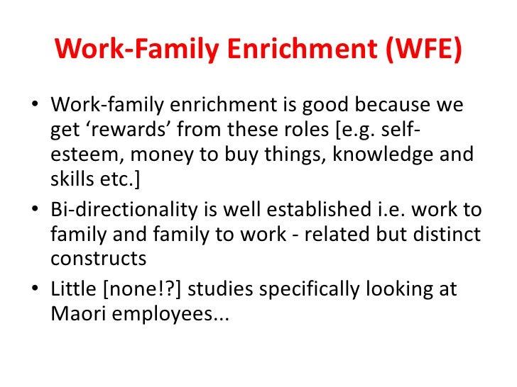 Work Family Enrichment Work-family Enrichment