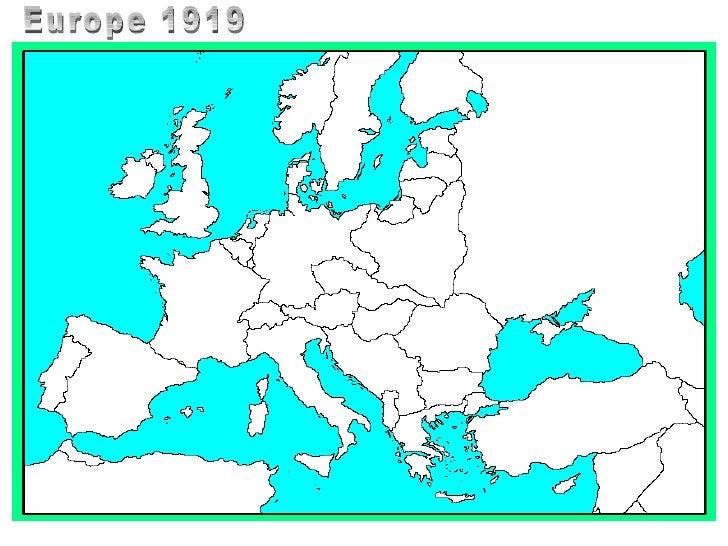 Europe 1919 Blank Map Thefreebiedepot