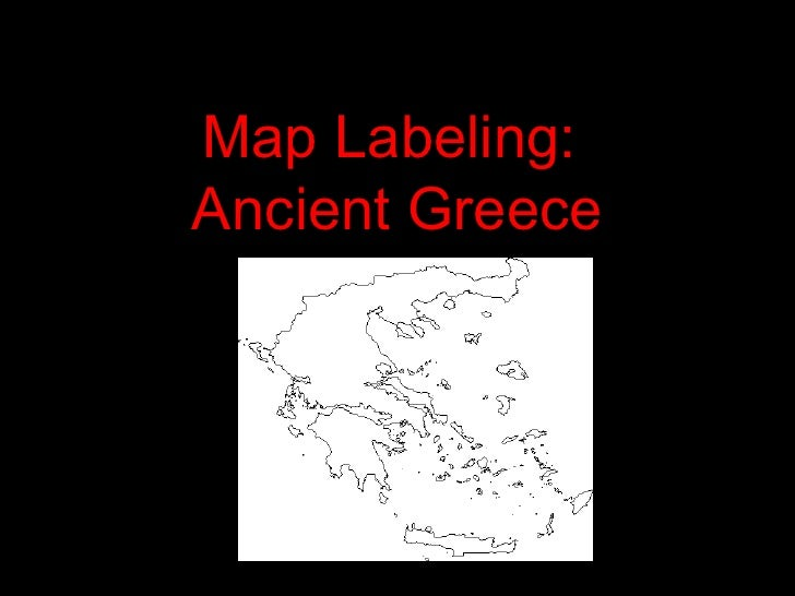 Map Labeling:  Ancient Greece