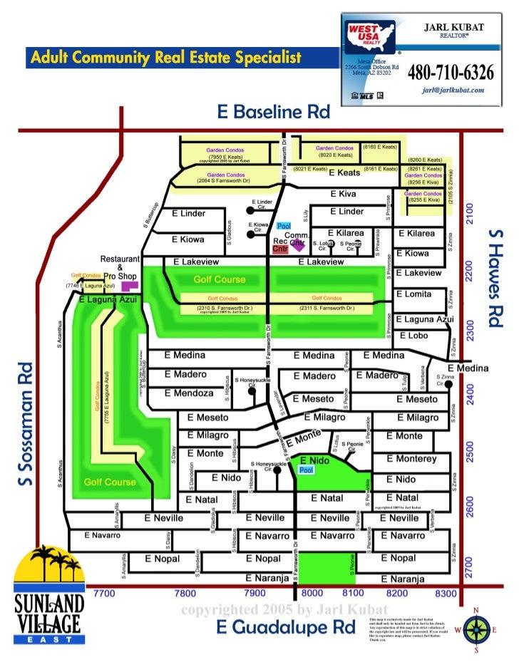 Sunland Village East Community Map