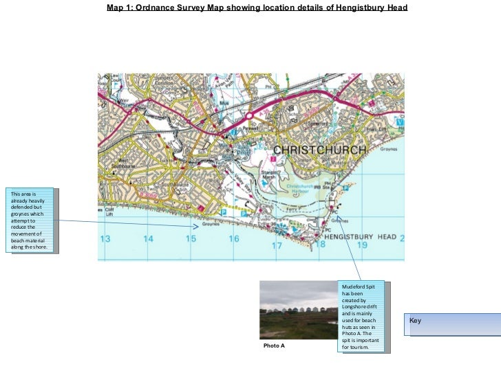 Map 1: Ordnance Survey Map showing location details of Hengistbury Head Key This area is already heavily defended but groy...