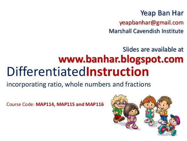 MAP114 Differentiated Instruction in Primary Mathematics
