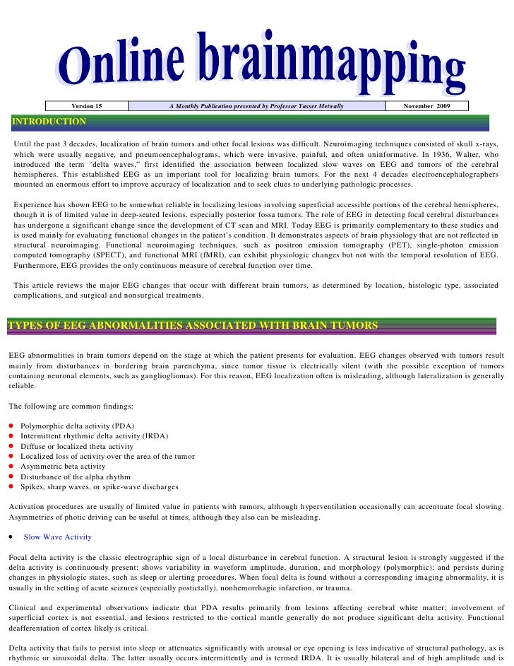 Version 15                    A Monthly Publication presented by Professor Yasser Metwally            November 2009  INTRO...