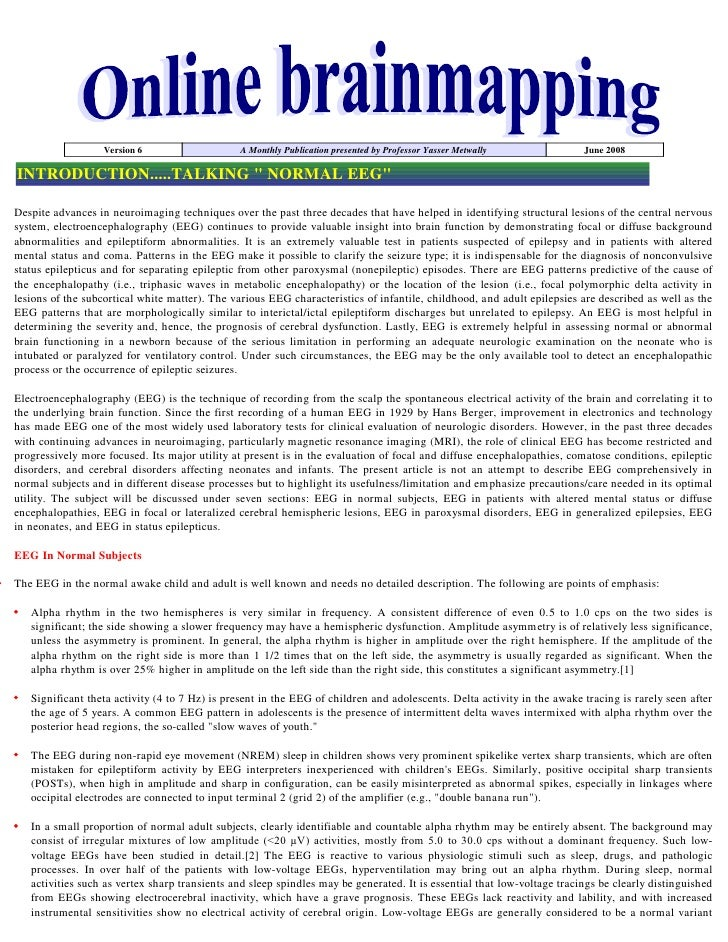 Version 6                    A Monthly Publication presented by Professor Yasser Metwally              June 2008  INTRODUC...