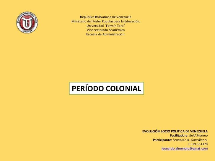 """República Bolivariana de Venezuela<br />Ministerio del Poder Popular para la Educación.<br />Universidad """"Fermín Toro""""<br ..."""