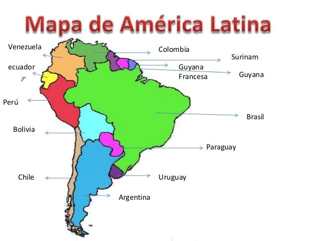 De mapa de america con nombre  Imagui