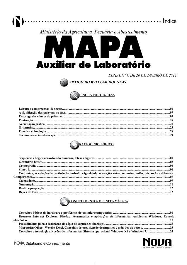 Didatismo e Conhecimento índice artigo do william douglas língua Portuguesa Leitura e compreensão de textos..................
