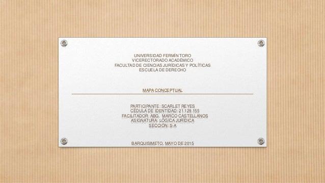 UNIVERSIDAD FERMÍN TORO VICERECTORADO ACADÉMICO FACULTAD DE CIENCIAS JURÍDICAS Y POLÍTICAS ESCUELA DE DERECHO MAPA CONCEPT...
