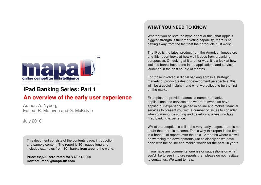 Mapa   i pad banking series - part 1 - brochure