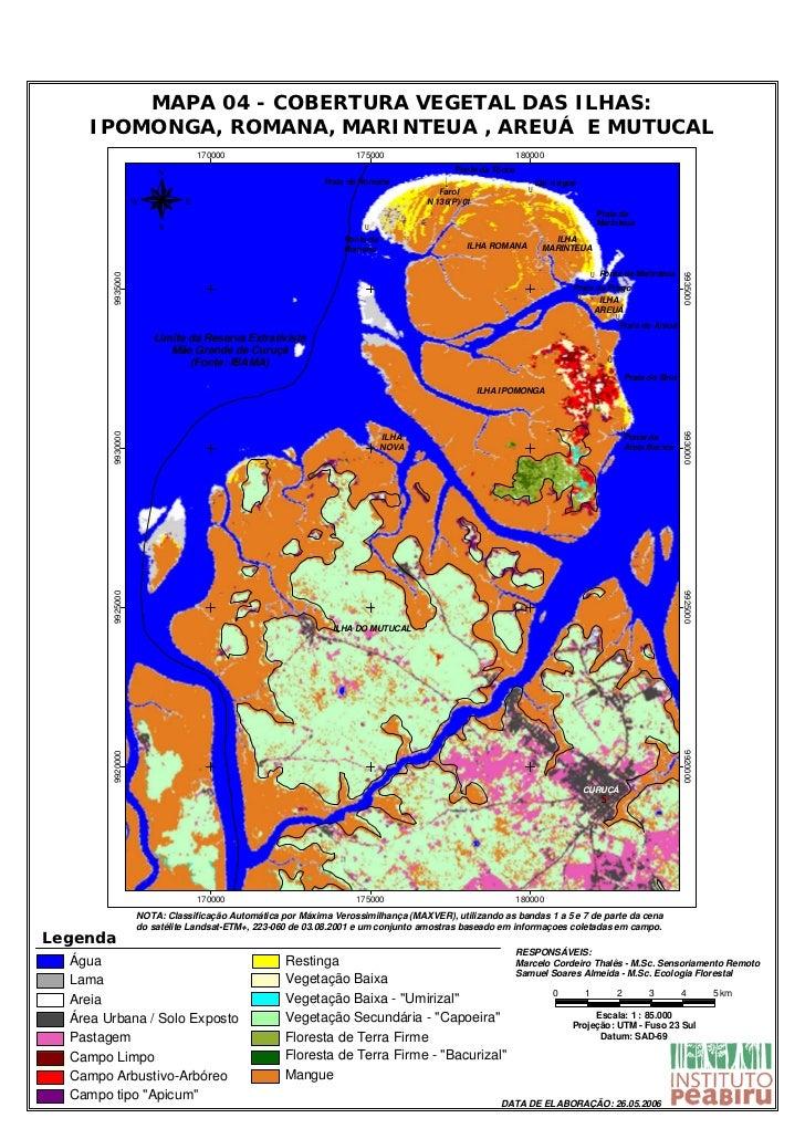 Mapa Curuça - 4   Cobertura Vegetal Mutucal Resex