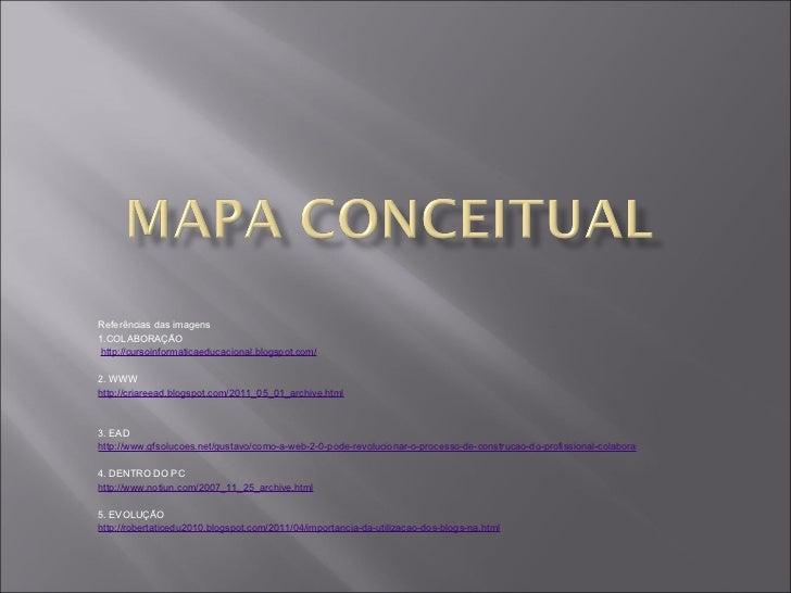 Referências das imagens 1.COLABORAÇÃO http://cursoinformaticaeducacional.blogspot.com/  2. WWW http://criareead.blogspot....