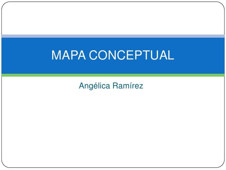 Angélica Ramírez<br />MAPA CONCEPTUAL<br />