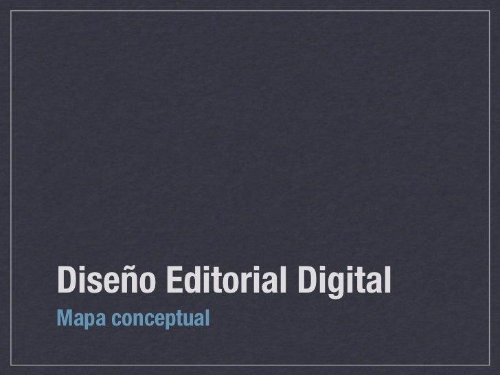 Diseño Editorial DigitalMapa conceptual