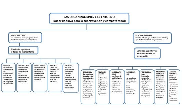LAS ORGANIZACIONES Y EL ENTORNO                                                                  Factor decisivo para la s...
