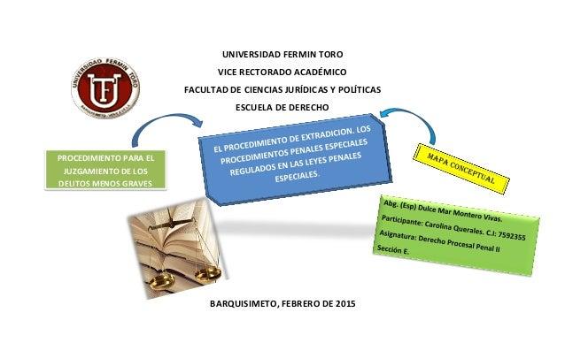 UNIVERSIDAD FERMIN TORO VICE RECTORADO ACADÉMICO FACULTAD DE CIENCIAS JURÍDICAS Y POLÍTICAS ESCUELA DE DERECHO UNIVERSIDAD...
