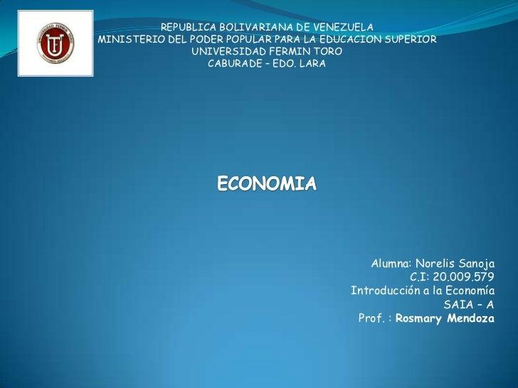 Mapa conceptual de economia