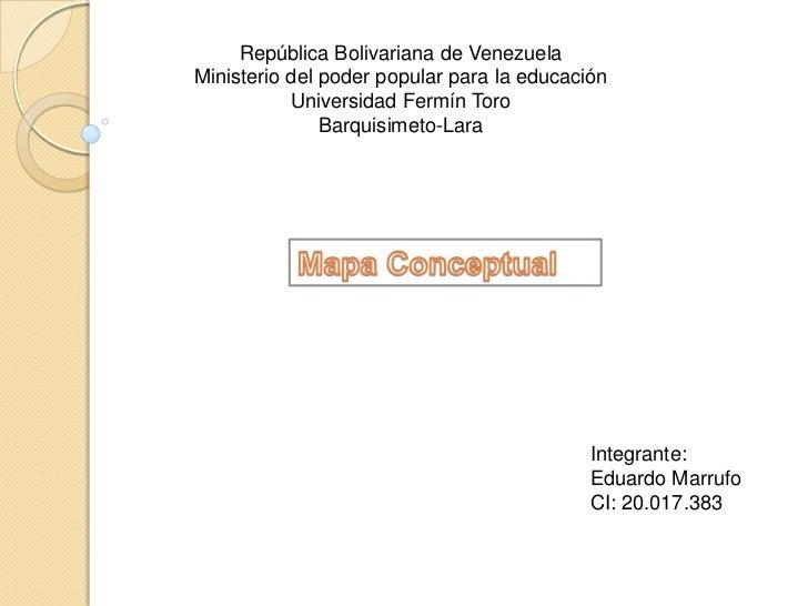 República Bolivariana de VenezuelaMinisterio del poder popular para la educación           Universidad Fermín Toro        ...