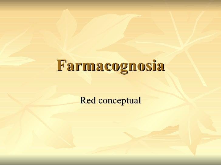 Farmacognosia Red conceptual