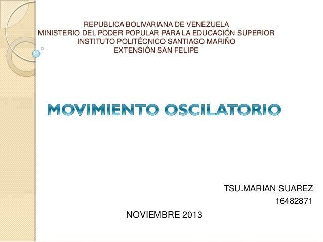 REPUBLICA BOLIVARIANA DE VENEZUELA MINISTERIO DEL PODER POPULAR PARA LA EDUCACIÓN SUPERIOR INSTITUTO POLITÉCNICO SANTIAGO ...