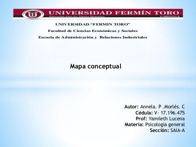 """UNIVERSIDAD """"FERMIN TORO"""" Facultad de Ciencias Económicas y Sociales Escuela de Administración y Relaciones Industriales M..."""