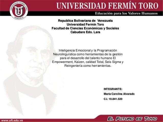 Republica Bolivariana de Venezuela          Universidad Fermín ToroFacultad de Ciencias Económicas y Sociales            C...