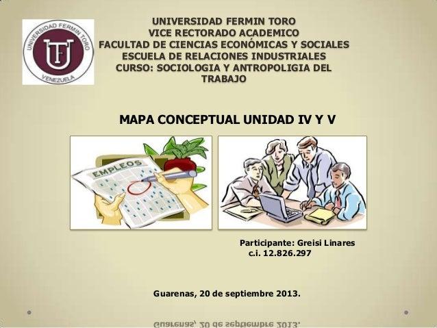 UNIVERSIDAD FERMIN TORO VICE RECTORADO ACADEMICO FACULTAD DE CIENCIAS ECONÓMICAS Y SOCIALES ESCUELA DE RELACIONES INDUSTRI...
