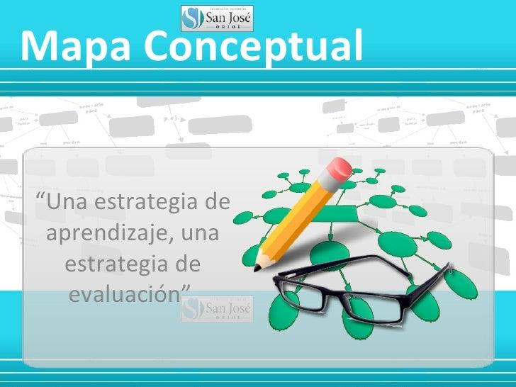 """Mapa Conceptual""""Una estrategia de aprendizaje, una  estrategia de   evaluación"""""""