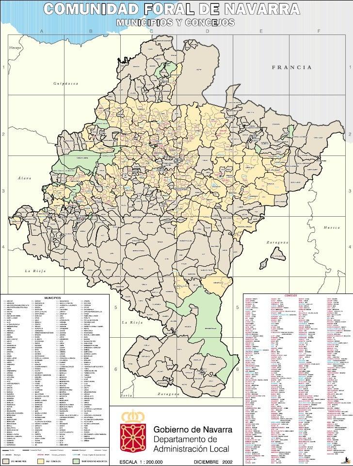 Mapa de municipios navarros