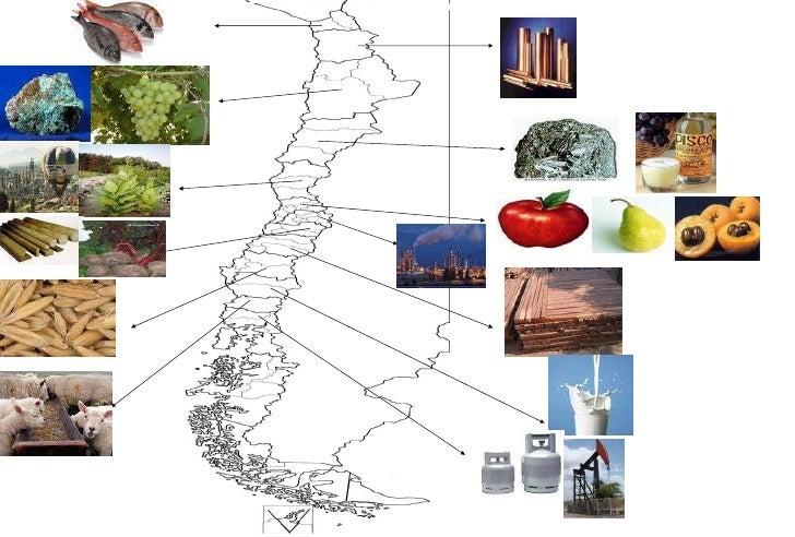 Mapa Economico De Chile
