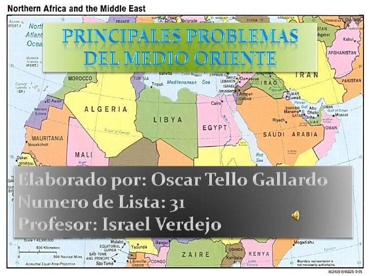 Mapa infografico de medio oriente