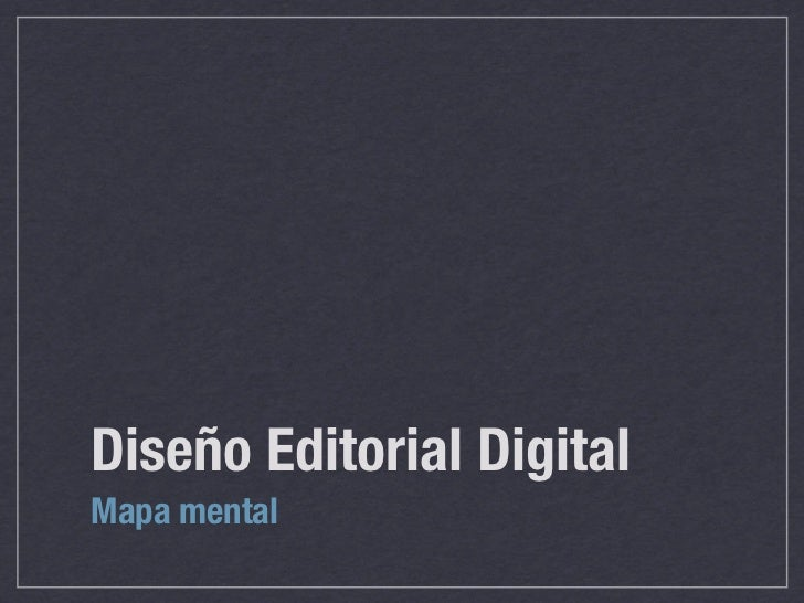 Diseño Editorial DigitalMapa mental