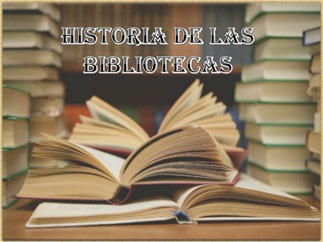 Mapa mental historia de las bibliotecas