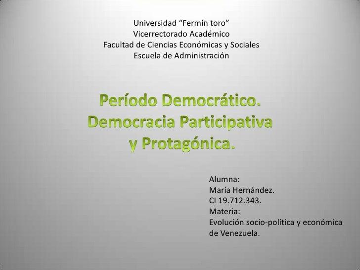 """Universidad """"Fermín toro""""Vicerrectorado Académico Facultad de Ciencias Económicas y SocialesEscuela de Administración<br /..."""