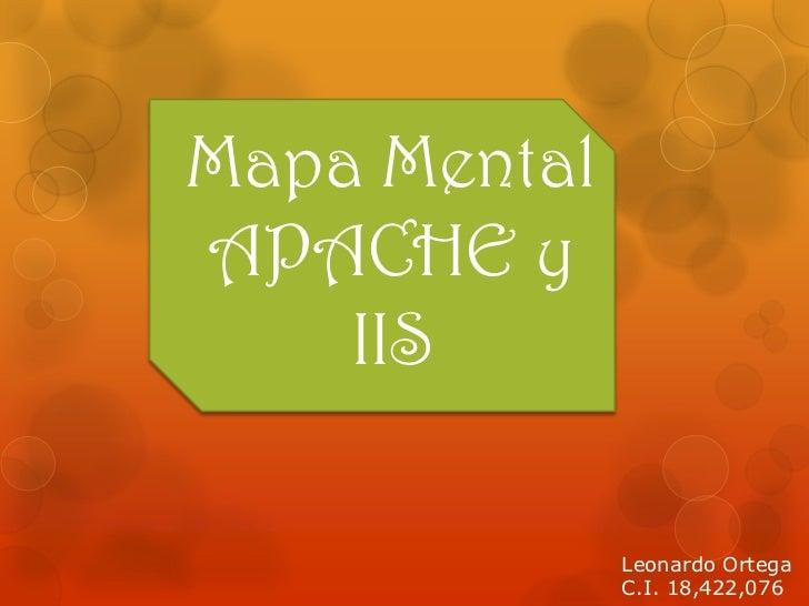 Mapa MentalAPACHE y    IIS              Leonardo Ortega              C.I. 18,422,076