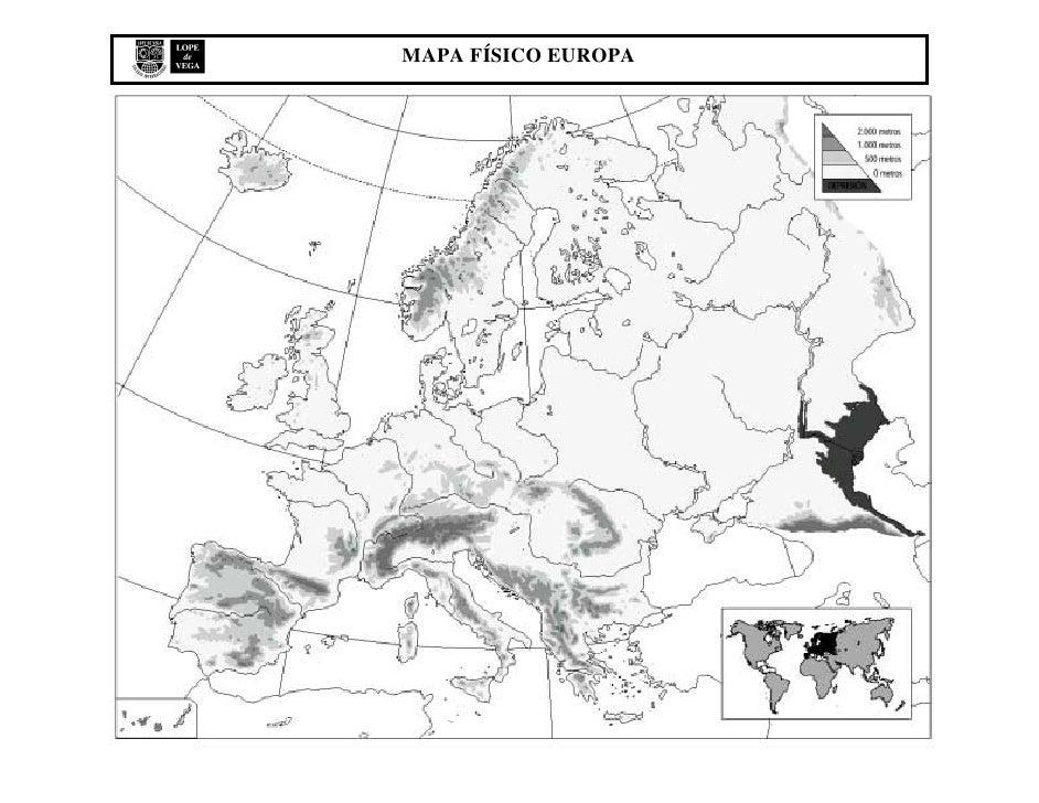 Mapa Mudo Fisico Europa
