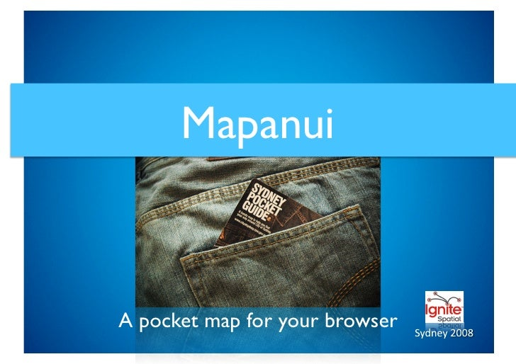 Mapanui    A pocket map for your browser