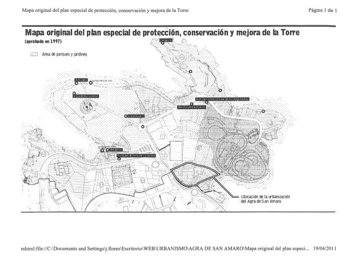 Mapa plan especial protección torre