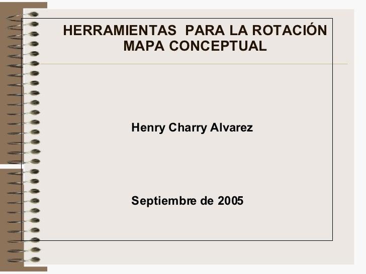 HERRAMIENTAS  PARA LA ROTACIÓN MAPA CONCEPTUAL Septiembre  de 2005 Henry Charry Alvarez
