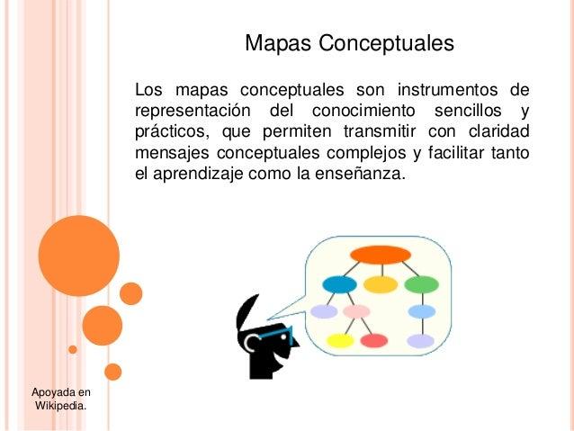 Los mapas conceptuales son instrumentos derepresentación del conocimiento sencillos yprácticos, que permiten transmitir co...