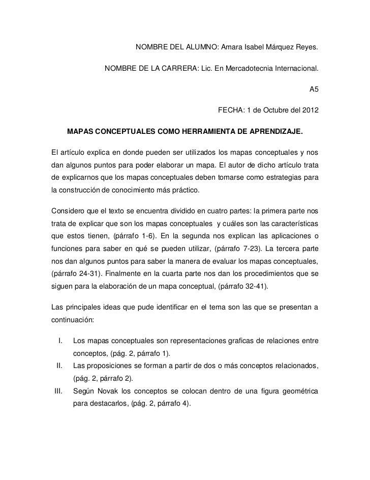 NOMBRE DEL ALUMNO: Amara Isabel Márquez Reyes.                  NOMBRE DE LA CARRERA: Lic. En Mercadotecnia Internacional....