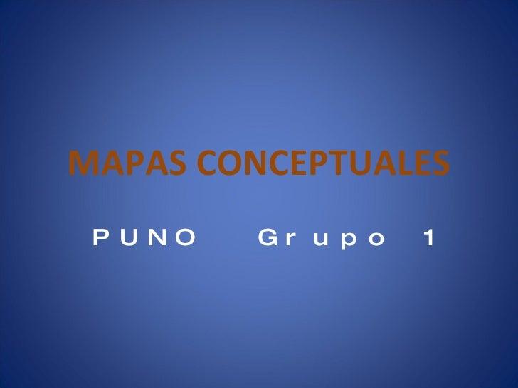 PUNO 1 Mapas conceptuales