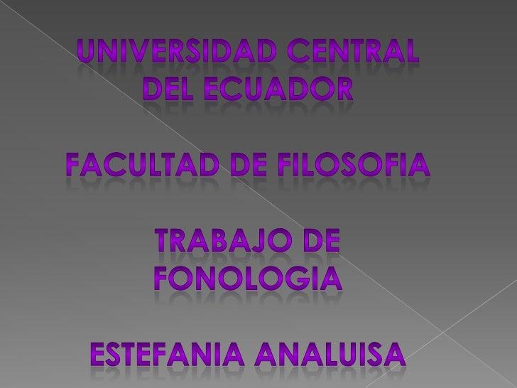 estefania analuisa fonologia