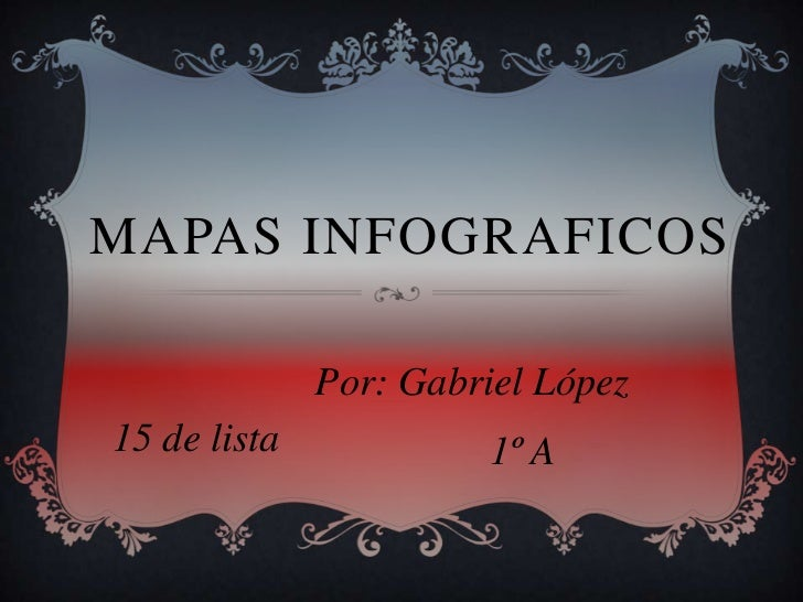 MAPAS INFOGRAFICOS              Por: Gabriel López15 de lista            1º A