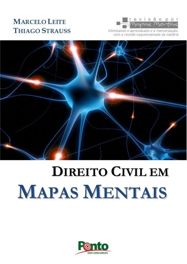 DDIIRREEIITTOO CCIIVVIILL EEMM MMAAPPAASS MMEENNTTAAIISS Otimizando o aprendizado e a memorização, com a revisão esquemati...