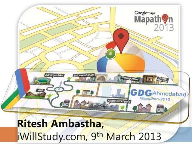 Mapathon 2013 - Google Maps Javascript API