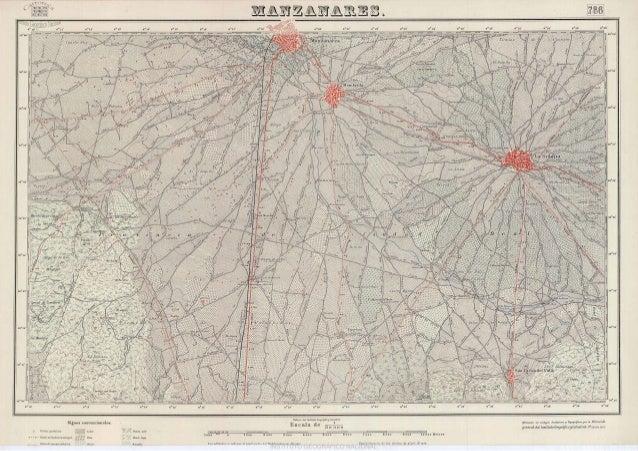 Mapa topográfico de  manzanares. (año 1953). mtn 0786