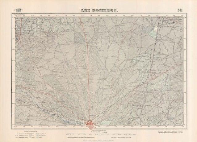 Mapa topográfico de Manzanares, zonna norte (los  Romeros). año 1953. mtn  0761