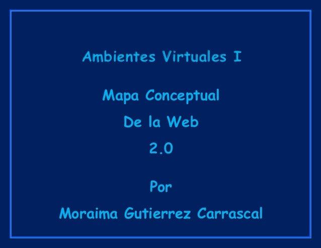 Ambientes Virtuales I Mapa Conceptual De la Web 2.0 Por Moraima Gutierrez Carrascal