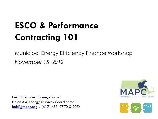 Panel 1: MAPC Presentation